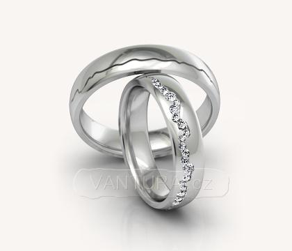 Snubní prsteny - bílé zlato