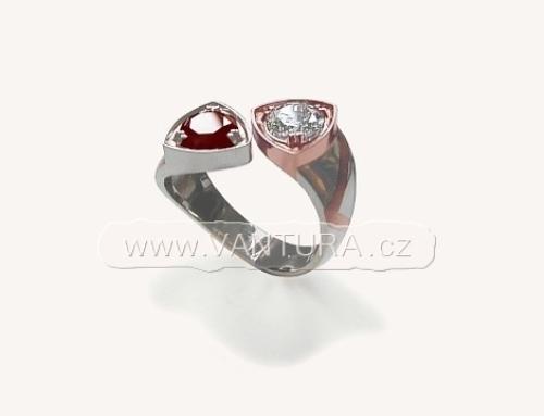 Prsten český granát