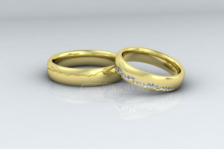 Snubni Prsteny Z Bileho Zlata Vantura