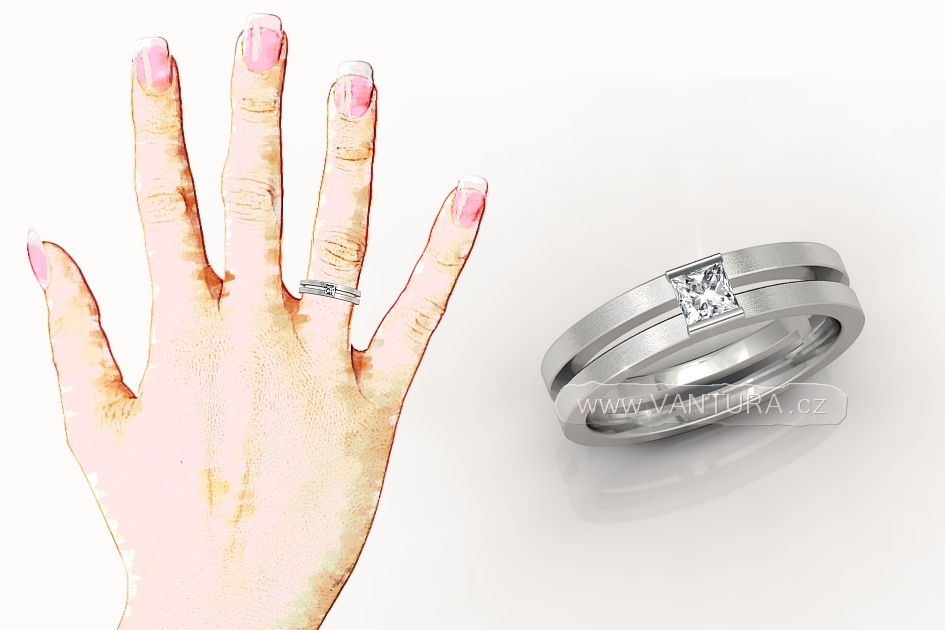 Zasnubni Prsten Diamant Vantura