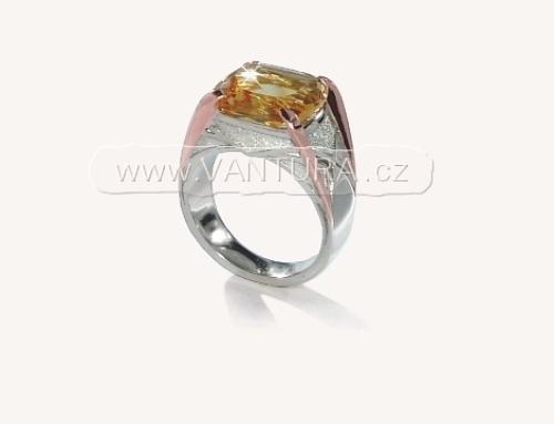Designové šperky – prsten s citrínem