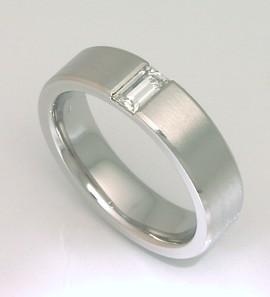 Pánský prsten - diamant brus bageta