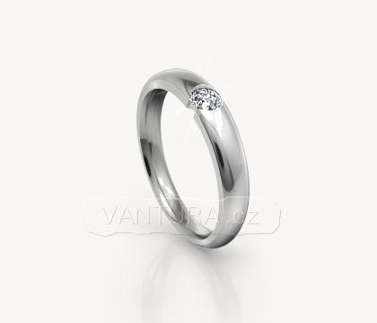 Prsten z bílého zlata č. 1020