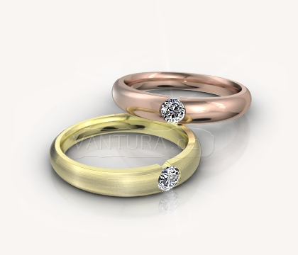 Zásnubní prsten bílé zlato, s briliantem